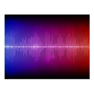 Sound Wave Post Cards