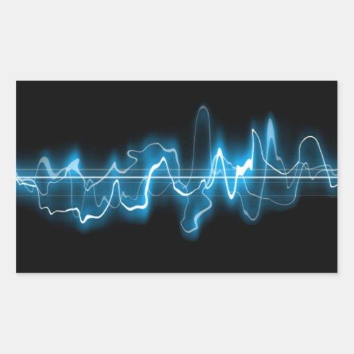 Sound Wave Rectangular Stickers