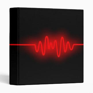 Sound Wave - Red and Black Binder