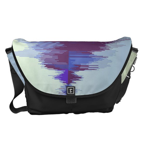 Sound wave unique and stylish messenger bag. Music Messenger Bag