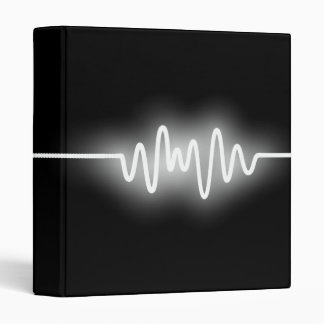 Sound Wave - White and Black Binder