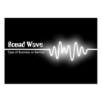Sound Wave - White and Black Large Business Card