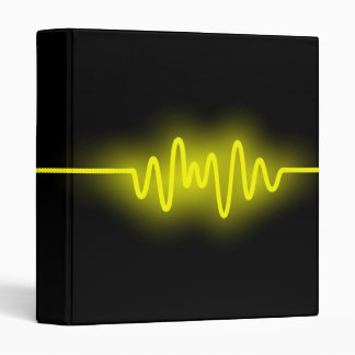 Sound Wave - Yellow and Black Binder