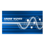 Sound Waves - Blue Brushed Texture Business Card Templates