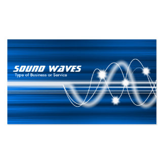 Sound Waves - Blue Brushed Texture Double-Sided Standard Business Cards (Pack Of 100)