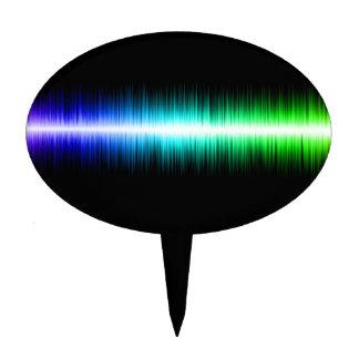 Sound Waves Design Cake Topper