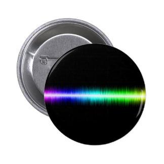 Sound Waves Design Pinback Button