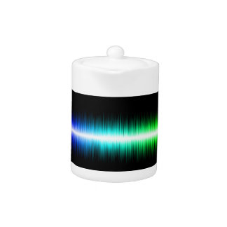 Sound Waves Design Teapot