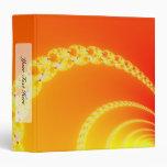 Sound Waves Fractal Art 3 Ring Binder