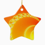 Sound Waves Fractal Art Ceramic Ornament