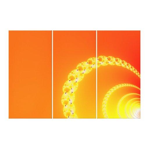 Sound Waves Fractal Art Gallery Wrap Canvas