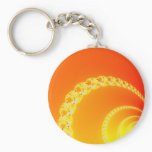 Sound Waves Fractal Art Keychain