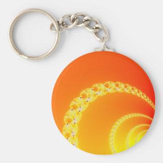 Sound Waves Fractal Art Keychain