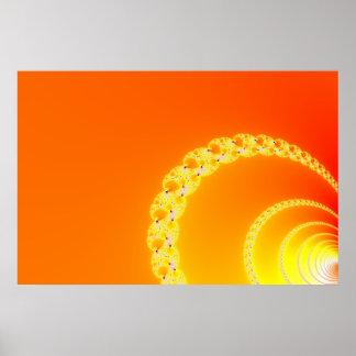 Sound Waves Fractal Art Poster