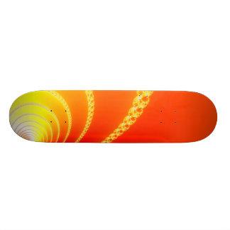 Sound Waves Fractal Art Skateboard Deck