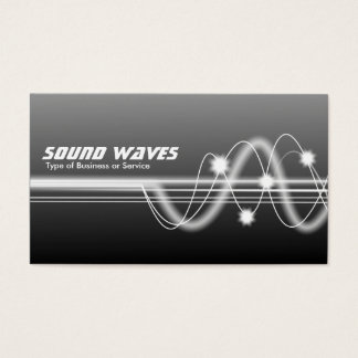 Sound Waves - Gray Shaded Business Card