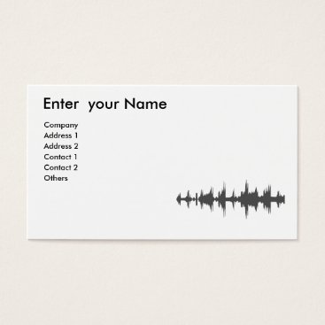 Professional Business Sound Waves Grunge  Business Card - Grey