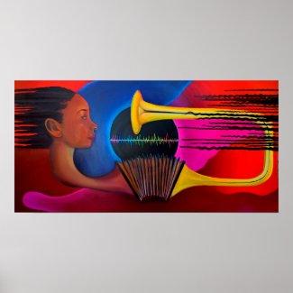 Sound Waves II oil painting by Luke Taft print
