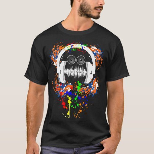 Sound Waves Music Man T-Shirt