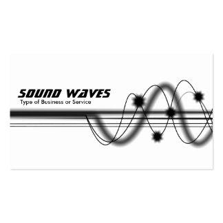 Sound Waves - White Anti-Matter Business Card