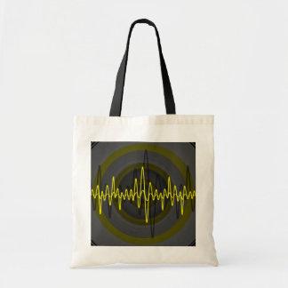 Sound Yellow Dark budget tote bag