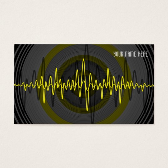 Sound Yellow Dark business card template