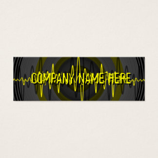 Sound Yellow Dark business card template skinny
