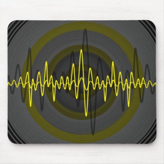 Sound Yellow Dark mousepad