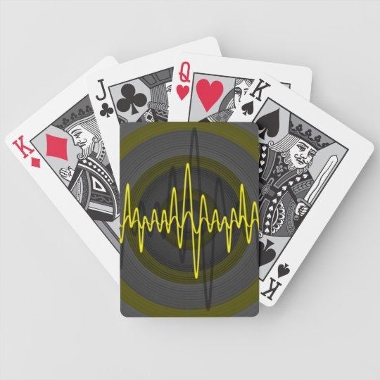 Sound Yellow Dark playing cards