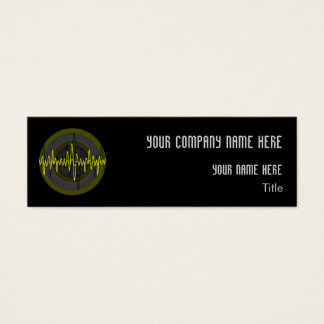 Sound Yellow Dark Round business card skinny