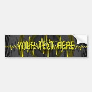 Sound Yellow Dark 'Your Text' bumper sticker