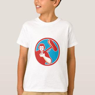 Soundman Miicrophone Pole Circle Retro T-Shirt
