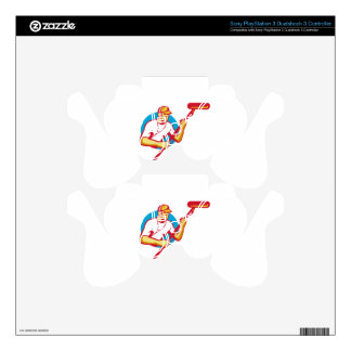 soundman sound man with microphone retro PS3 controller skin