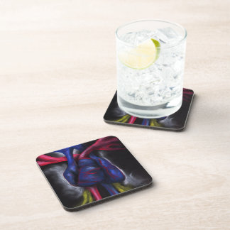 Sounds Of A Blue Heart Original Art Coaster Set