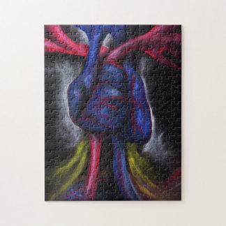Sounds Of A Blue Heart Original Art Puzzle