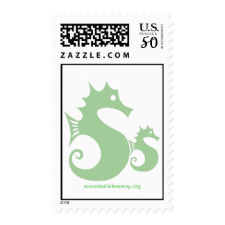 Sounds of Silence Color Seahorse Postage Stamp