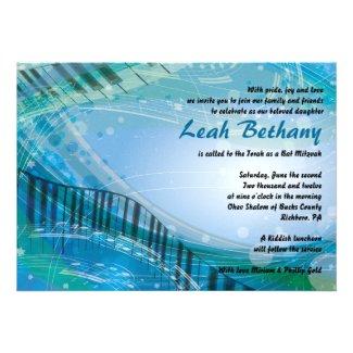 SOUNDS of the PIANO Bat Bar Mitzvah Invitation