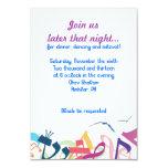 """SOUNDS OF THE TORAH Bat Bar Mitzvah Party Card 3.5"""" X 5"""" Invitation Card"""