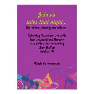 SOUNDS OF THE TORAH Bat Bar Mitzvah Party Card Invitation