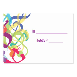 SOUNDS OF THE TORAH Bat Bar Mitzvah Seating Card Large Business Cards (Pack Of 100)