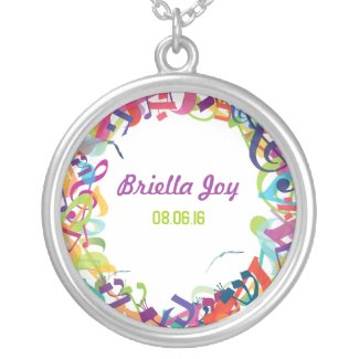 SOUNDS OF THE TORAH Silver Memory Gift Necklace