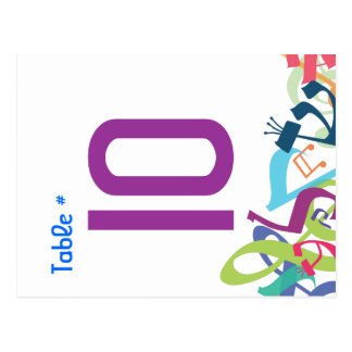 SOUNDS OF THE TORAH Table Number Seating Card Postcard
