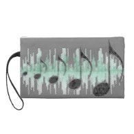 Soundtrack of Life Wristlet Clutches