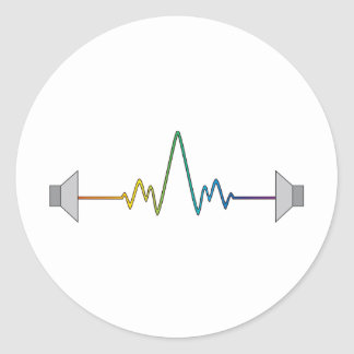 Soundwave Classic Round Sticker