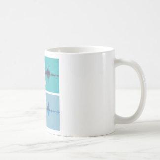 Soundwave through the human ear coffee mug