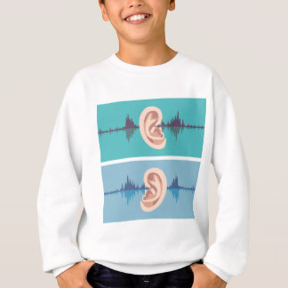 Soundwave through the human ear sweatshirt