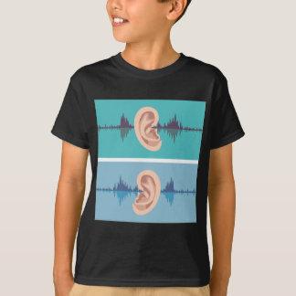 Soundwave through the human ear T-Shirt