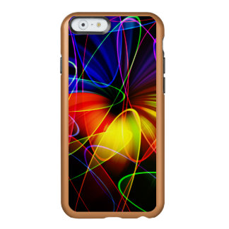 Soundwaves Neon Fractal Incipio Feather® Shine iPhone 6 Case