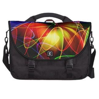 Soundwaves Neon Fractal Laptop Bags