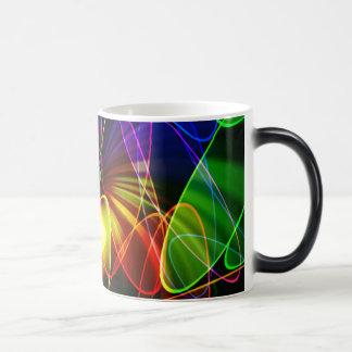 Soundwaves Neon Fractal Coffee Mug